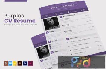 Purples - CV & Resume W6J4PKV 7