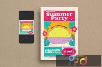 Summer Party Flyer Set LSBU867 6