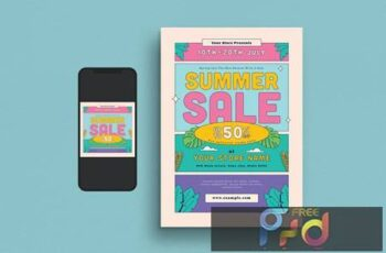 Summer Sale Flyer Set VECQSDE 5