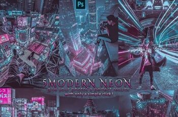 Modern Neon - Blogger Insta Photoshop Actions 26272050 8