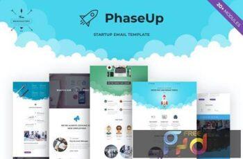 PhaseUp - Startup E-newsletter Template FWS7M7H 7