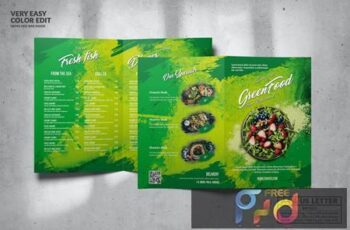 Green Food Menu Design A4 & US Letter J96CTUL 5