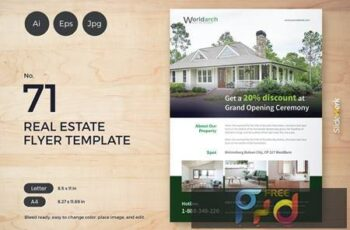 Real Estate Flyer Template 71 - Slidewerk X8QK6QN 6