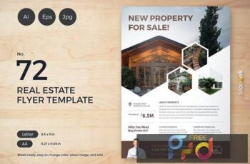 Real Estate Flyer Template 72 - Slidewerk W7C37RH 4