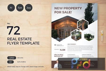 Real Estate Flyer Template 72 - Slidewerk W7C37RH 1