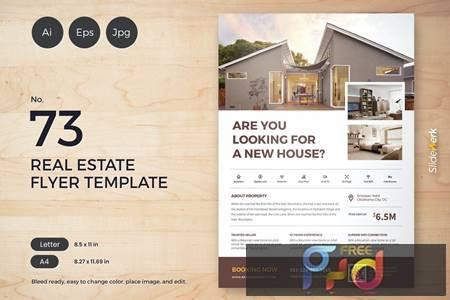 Real Estate Flyer Template 73 - Slidewerk MEBMJCH 1