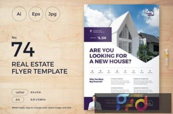Real Estate Flyer Template 74 - Slidewerk 3NJ35BM 3
