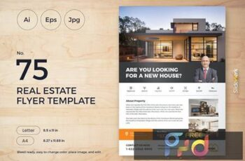 Real Estate Flyer Template 75 - Slidewerk YZ3NBHH 2