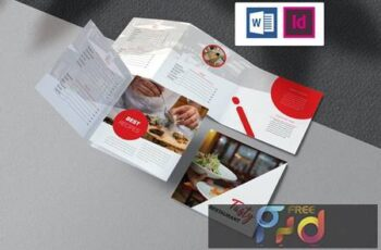 Restaurant Brochure Indesign EK88AZY 4