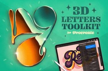 3D Letters Toolkit for Procreate 4904895 7
