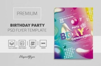 Birthday Party – Premium PSD Flyer Template 116868 5