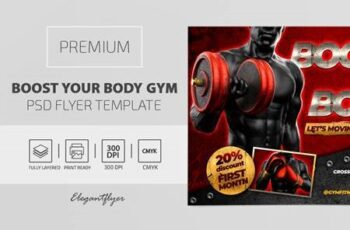 Boost Your Body GYM – Premium PSD Flyer Template 117121 4
