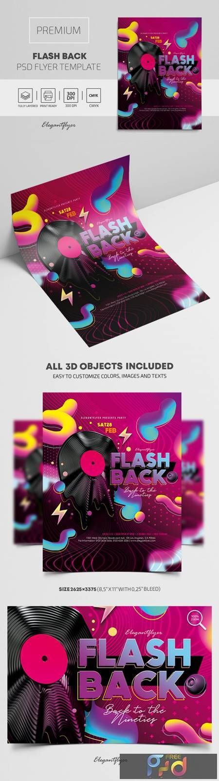 Flash Back – Premium PSD Flyer Template 117816 1