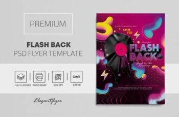 Flash Back – Premium PSD Flyer Template 117816 7