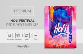Holi Festival – Premium PSD Flyer Template 116911 6