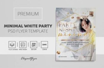 Minimal White Party - Premium PSD Flyer Template 117080 7