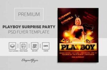 Playboy Surprise Party – Premium PSD Flyer Template 117352 2
