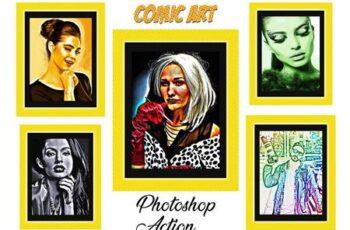 Comic Art Photoshop Action 4512416