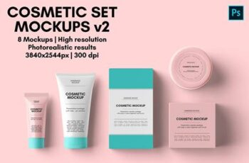 Cosmetic Set Mockups v2 - 8 views 4672660 3