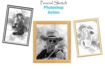 Pencil Sketch Photoshop Action 4511165 8
