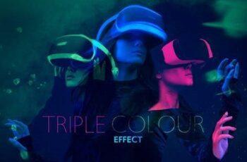 Triple Color Double Exposure Effect Mockup 5045358 11