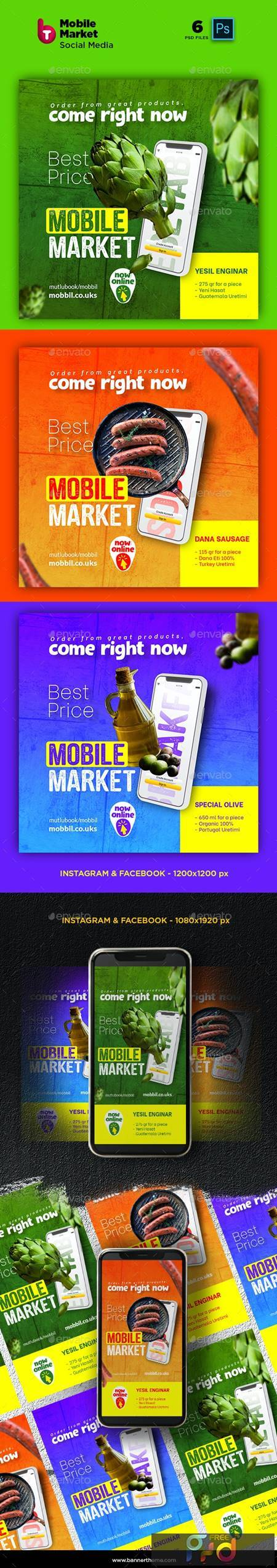 Mobile Market Social Media Post and Stories 26278797 1