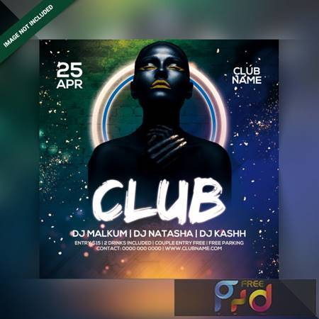 Club night party flyer Premium Psd 6790447 1