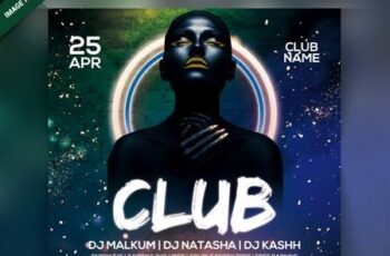 Club night party flyer Premium Psd 6790447 5
