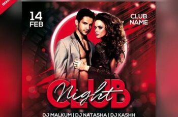 Club night party flyer Premium Psd 6425220 4