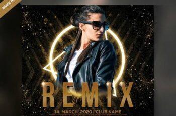 Dj remix party flyer Premium Psd 6378943 2