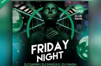 Friday night party flyer Premium Psd 6790446 5