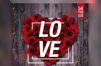 Valentines day party flyer Premium Psd 6402282 4