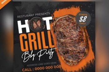 Hot grilled food instagram post Premium Psd 6513946 4