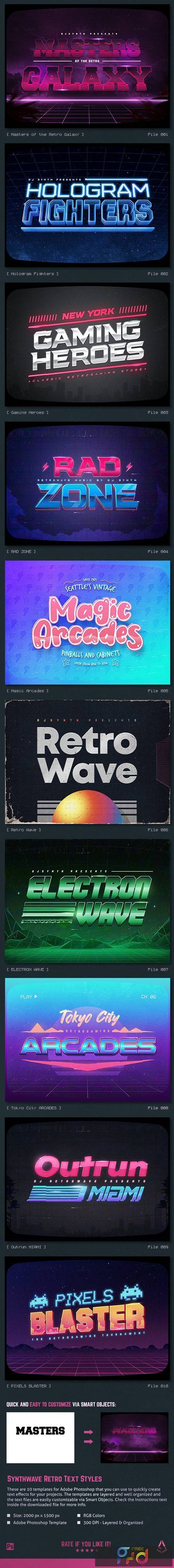 Synthwave 80s Retro Text Effects V3 26742705 1