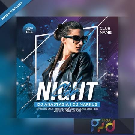 Night club party flyer Premium Psd 6378910 1