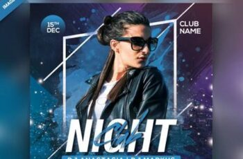 Night club party flyer Premium Psd 6378910 2