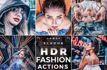 HDR Fashion - Portrait Actions Photoshop 26307212