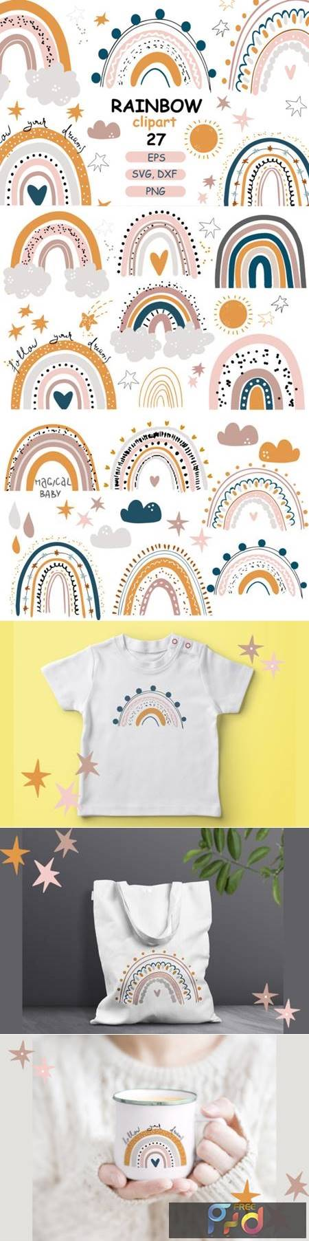 Rainbow Baby Pastel Clipart 4328330 1