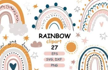 Rainbow Baby Pastel Clipart 4328330 6