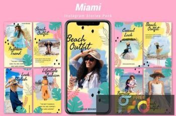 Miami - Instagram Template Pack DC9T4QP