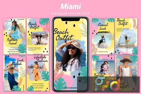 Miami - Instagram Template Pack DC9T4QP 1