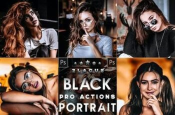 Black Tones Portrait Photoshop Actions 26656688 5