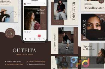Outfita - Fashion Instagram Post Template VSRWCQL