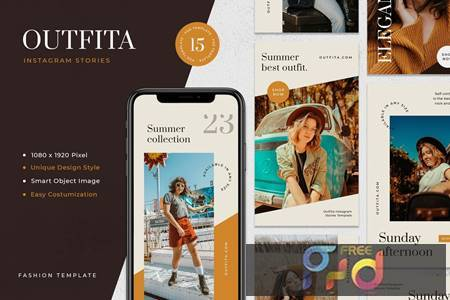 Outfita - Fashion Instagram Stories Template UK4WVLD 1