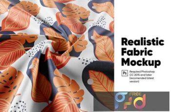 Realistic Fabric Mockup HK9U3BG 4
