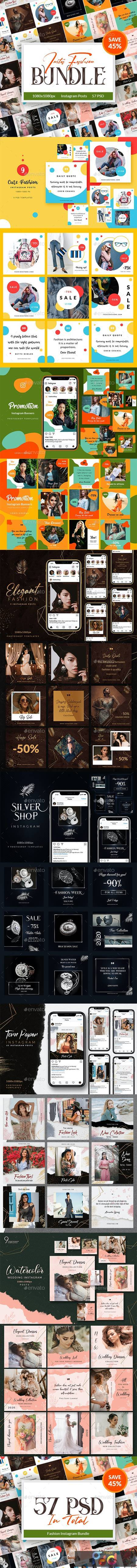57 Fashion Instagram Posts Bundle 26981307 1