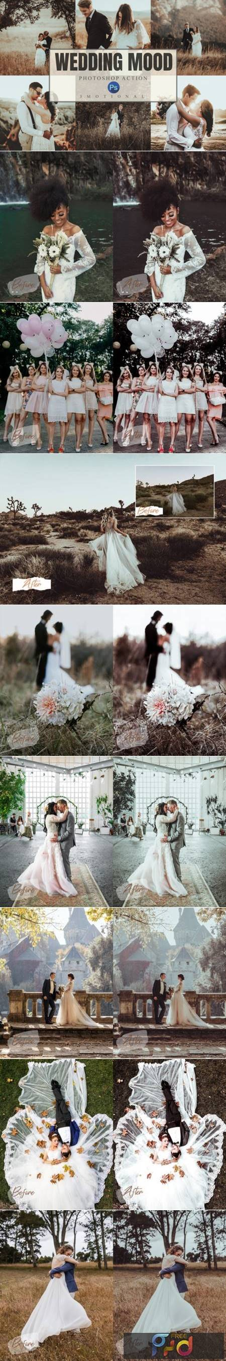 8 Wedding Mood Photoshop Actions ACR LUT 4391908 1