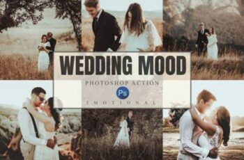 8 Wedding Mood Photoshop Actions ACR LUT 4391908