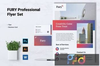 FURY Creative Agency Flyer & Business Card ZVMS4F8