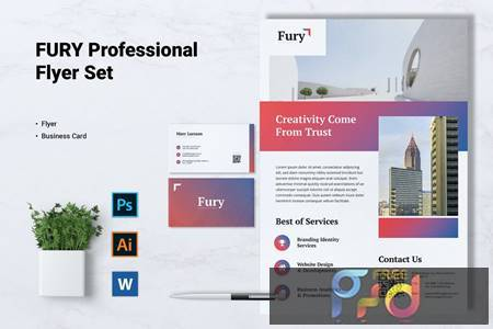 FURY Creative Agency Flyer & Business Card ZVMS4F8 1